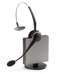 GN Netcom 9120 wireless headset with flex boom mic.