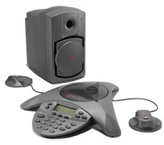 Polycom VTX 1000 with 2 ext. mics and subwoofer